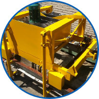 HYDRAULIC DE MOULDING MACHINE FOR CONCRETE PRODUCTS